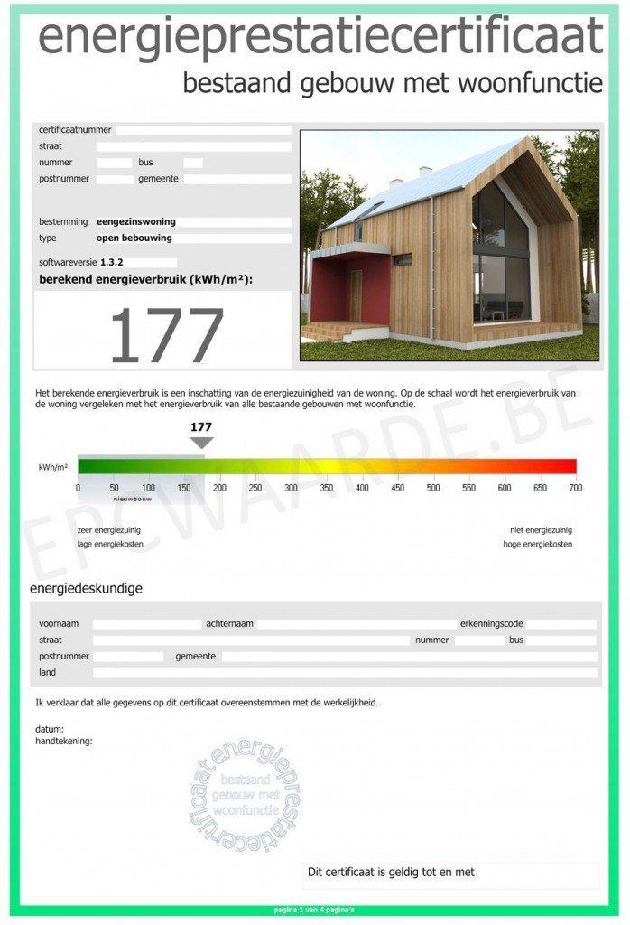 Energieprestatiecertificaat wetgeving