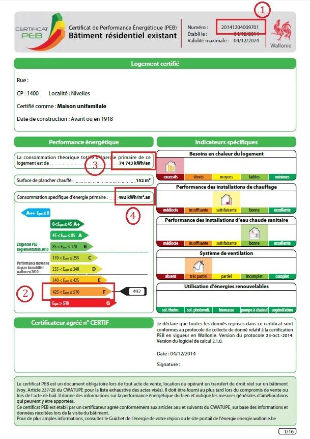 Le certificat de performance nerg tique qu 39 est ce que - Certificat de conformite maison obligatoire ...