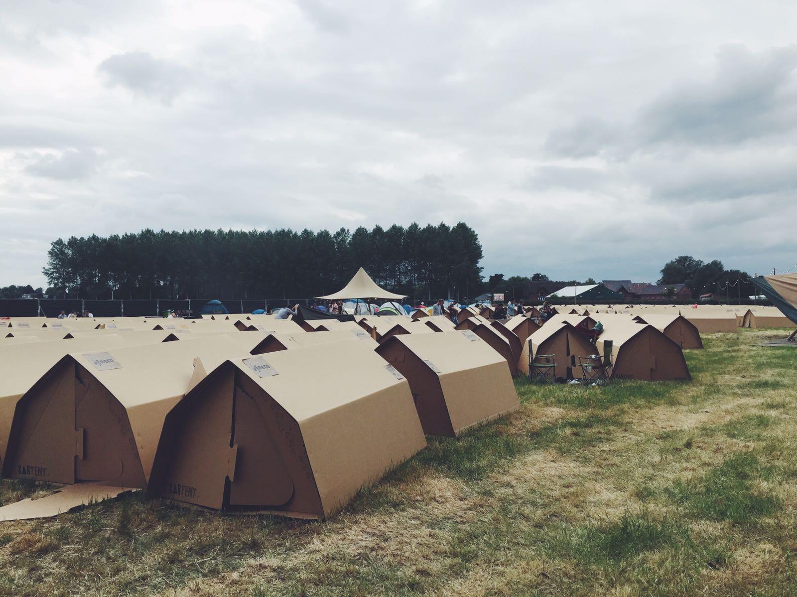 Voorbeeld van de ecologische green kartent camping