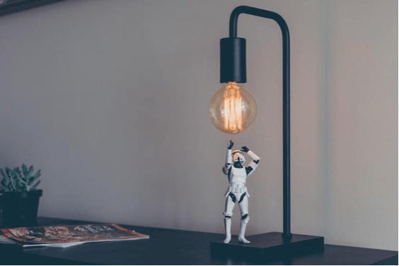 Star wars sous une ampoule